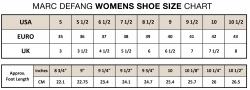 marc defang womens shoe size chart